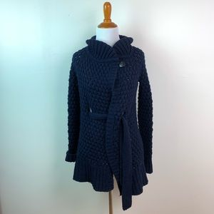 Vince Chunky Knit Front Tie Cardigan